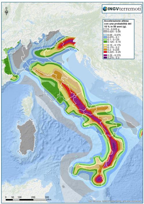 La pericolosità sismica del territorio nazionale (Ordinanza PCM n. 3519/2006